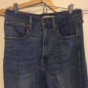 Levi mile high super skinny distressed jeans (30)